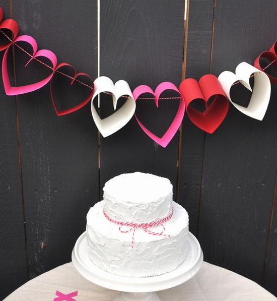 ハートガーランド結婚式DIY