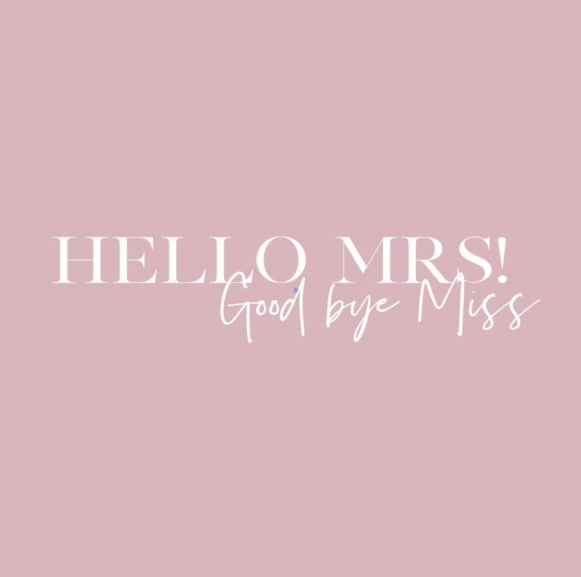 花嫁キット Hello MRS!